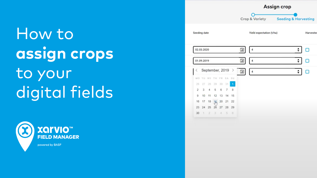How to assign crops to your digital fields