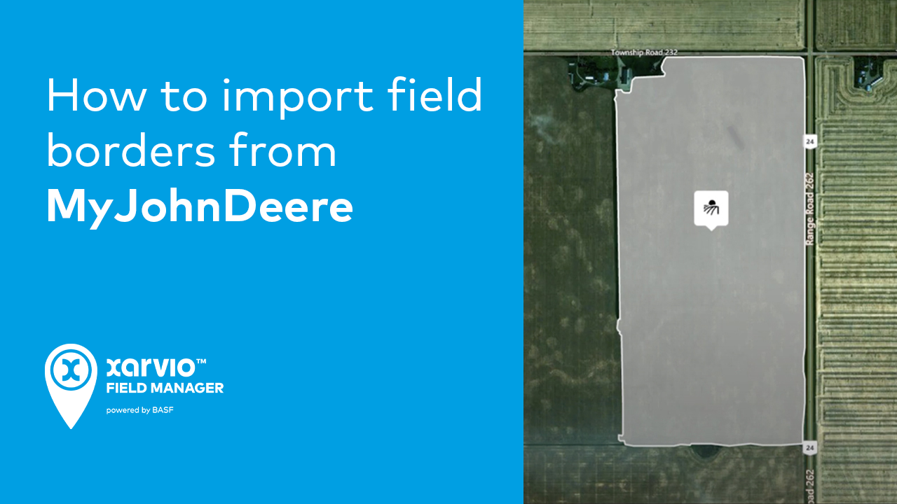 How to import field borders from MyJohnDeere